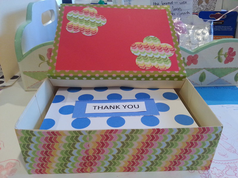box of thank you cards