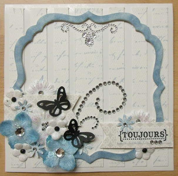 Card Blue Wedding (scrap-utopia)