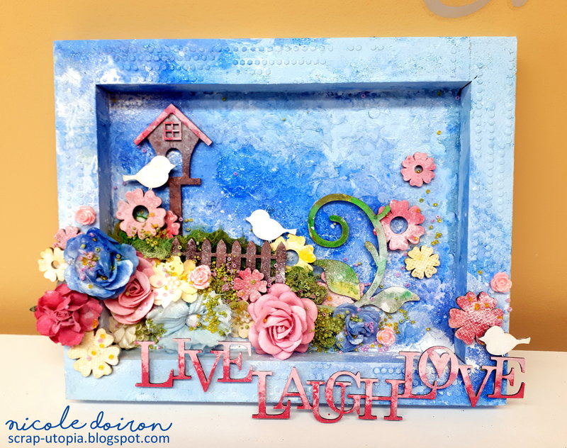 LIVE LAUGH LOVE Shadow Box (scrap-utopia)