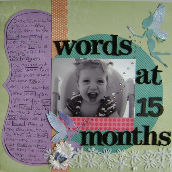 Words at 15 months