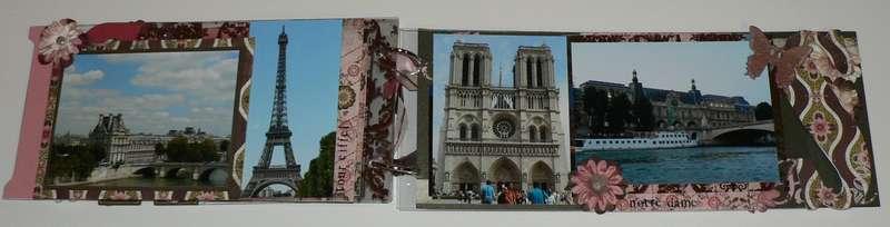 Paris acrylic album pages 8, 9