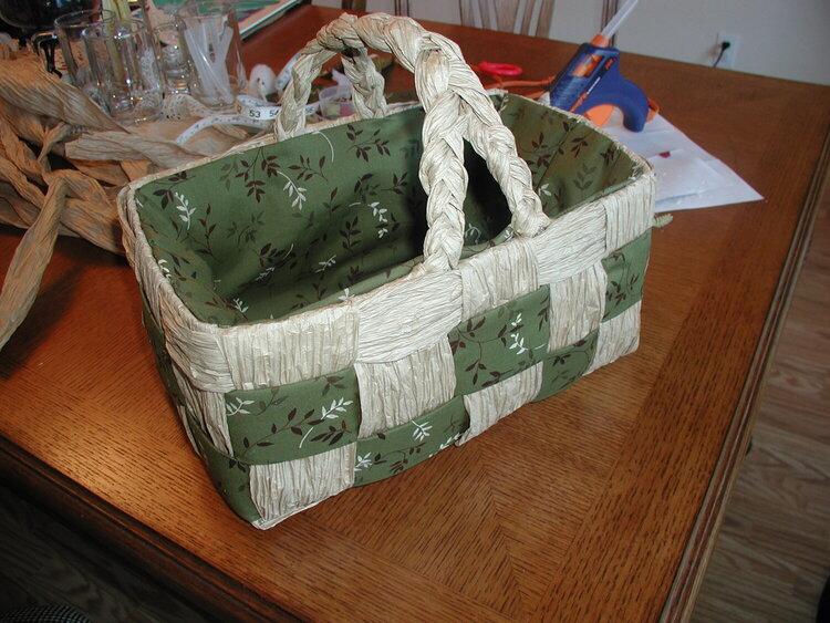 Brown Paper Bag Basket #2