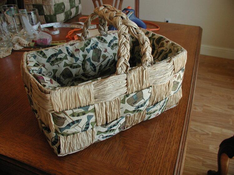 Brown Paper Bag Basket #3