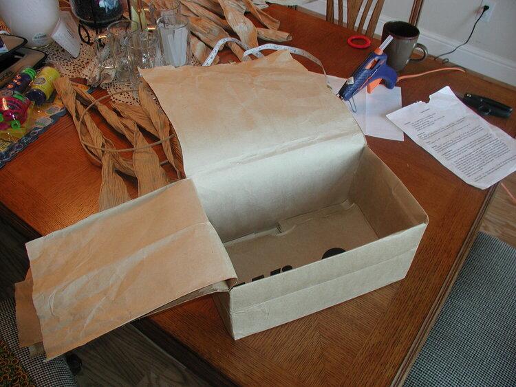 Brown paper bag - preparation