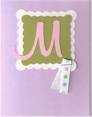 monogram card