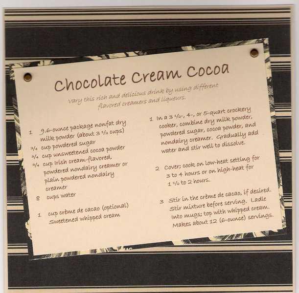 Chocolate Cream Cocoa