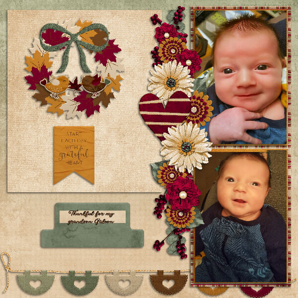 Thankful for my grandson Gideon