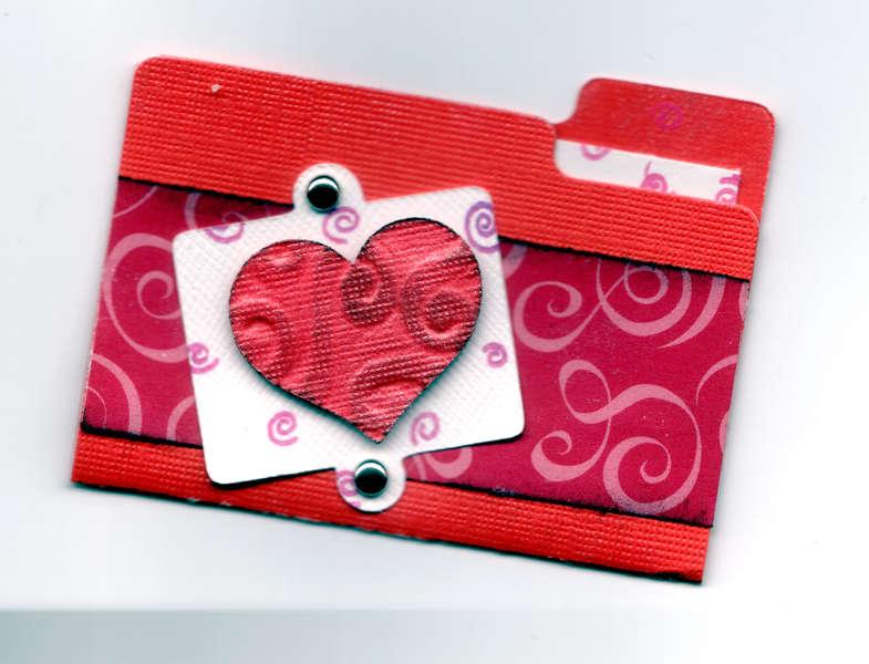 Swirly heart folder
