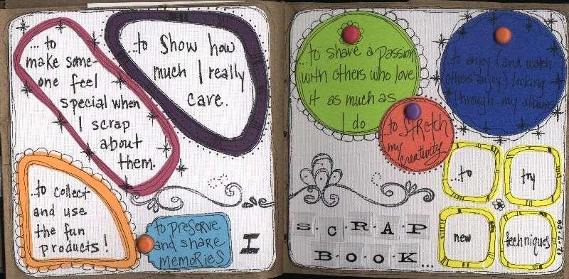 I scrapbook...to...