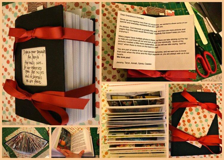 Photo Album Scrapbook for Grandparents