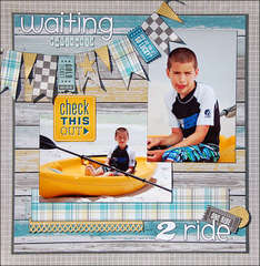 Waiting 2 ride *Scraptastic April*