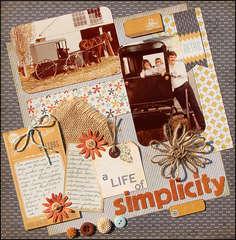 A Life of Simplicity *Scraptastic July*