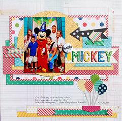 Hello Mickey *Scraptastic*