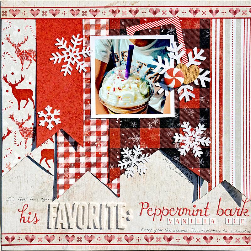 His Favorite Peppermint Bark Vanilla Ice