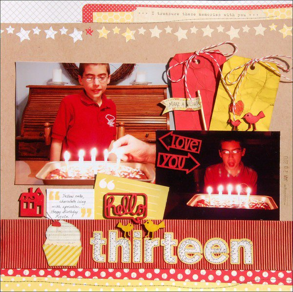Hello Thirteen *Scraptastic*