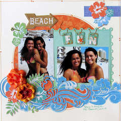 Beach Fun ~MYCREATIVESCRAPBOOK~
