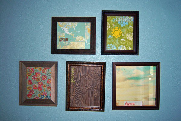 *wall art* with patterned paper