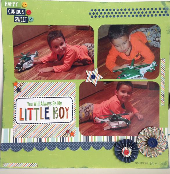 My little boy--page 2 of layout