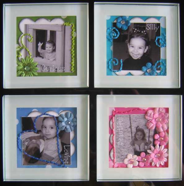 Altered Photo Coasters - Mother's Day gift