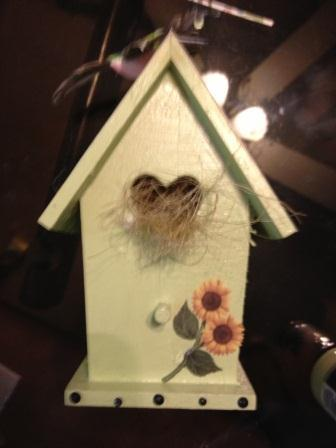 Birdhouse after alteration