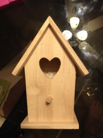 Bird house before alteration