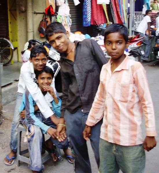 Boys at Market
