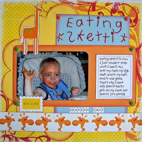 Eating Sketti