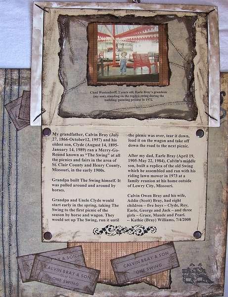 The Swing (Journaling Under Photo)