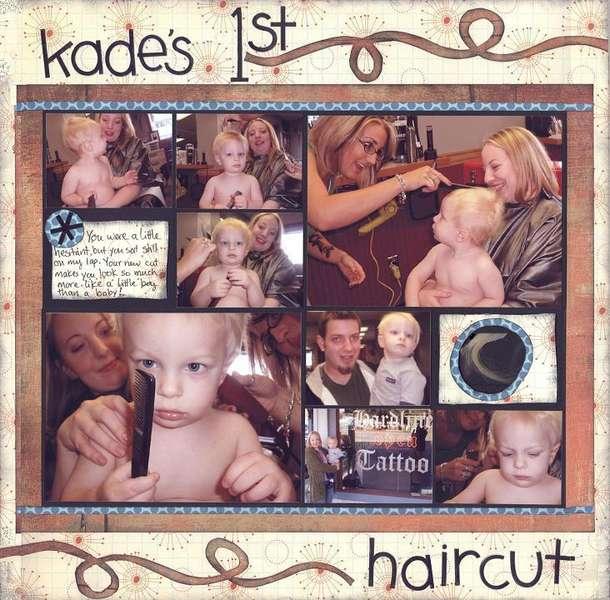 kade's 1st haircut