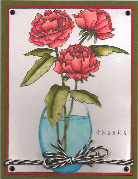 Floral Card - Thanks