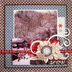 Winter Snow *My Creative Scrapbook*