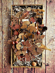 Creative Embellishments *Autumn Inspired Shadow Box