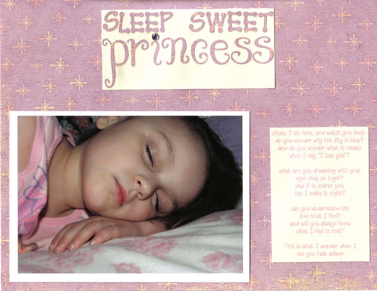 sleep sweet princess