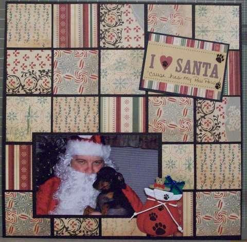 i love santa 'cause hes my paw paw