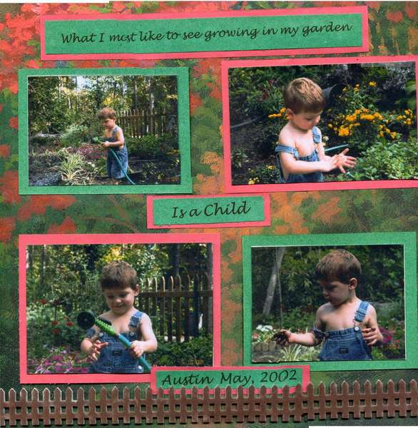 Toddler in the garden page 1