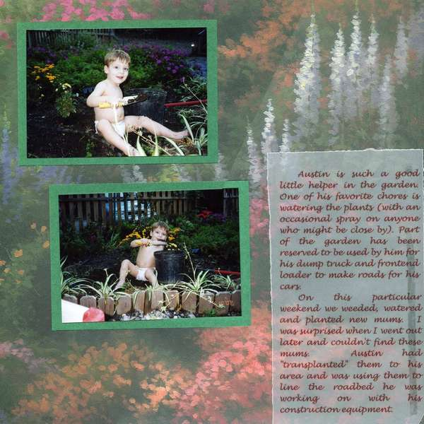 Toddler in the garden page 2
