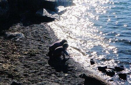 Caleb & Sam at the beach
