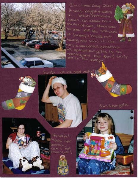 CHRISTMAS DAY 2003