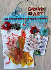 Children's Art Display Board -with artwork