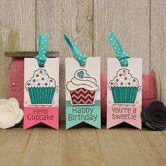 *Hampton Art* Birthday Cupcakes Tag Trio