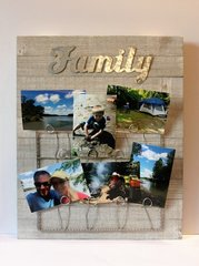 Family Photo Board with photos