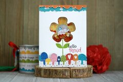 *Jillibean Soup* Hello Friend Hedgehog Shaker Card