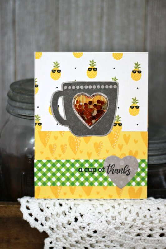 *Jillibean Soup* A Cup of Thanks Shaker Card