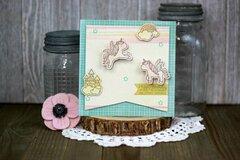 *Hampton Art* Rainbows & Unicorns Birthday Card