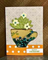 Succulent Coffee Cup Planter Card