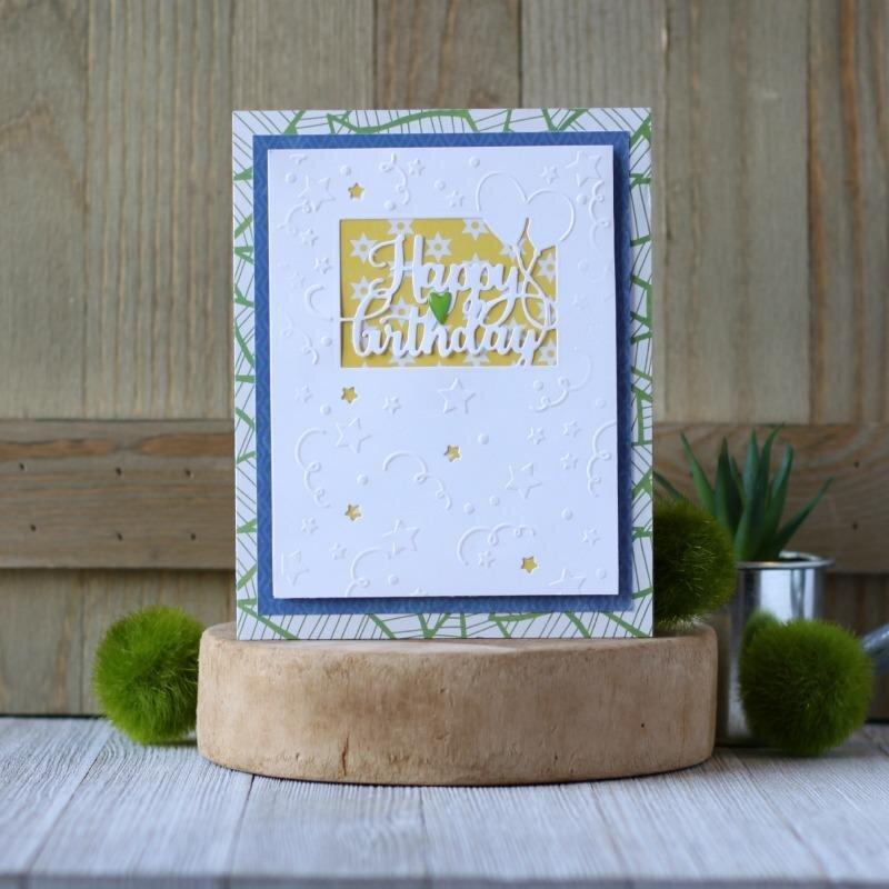 *Hampton Art* Birthday Cut and Emboss Card