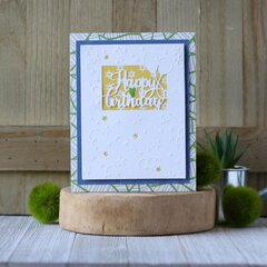 *Hampton Art* Birthday Cut and Emboss Card