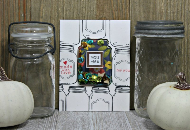 *Jillibean Soup* You & Me Jar Shaker Card