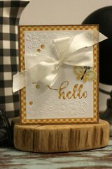 *Hampton Art* Hello Cut and Emboss Card