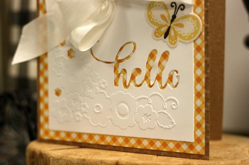 *Jillibean Soup* Hello Cut and Emboss Card Detail